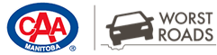 CAA Worst Roads Taylor Avenue, Winnipeg, Manitoba Logo